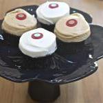Black Cake Stand / Cupcake Pedestal..