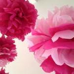 Pink Tissue Paper Pom Poms 5 Nurser..